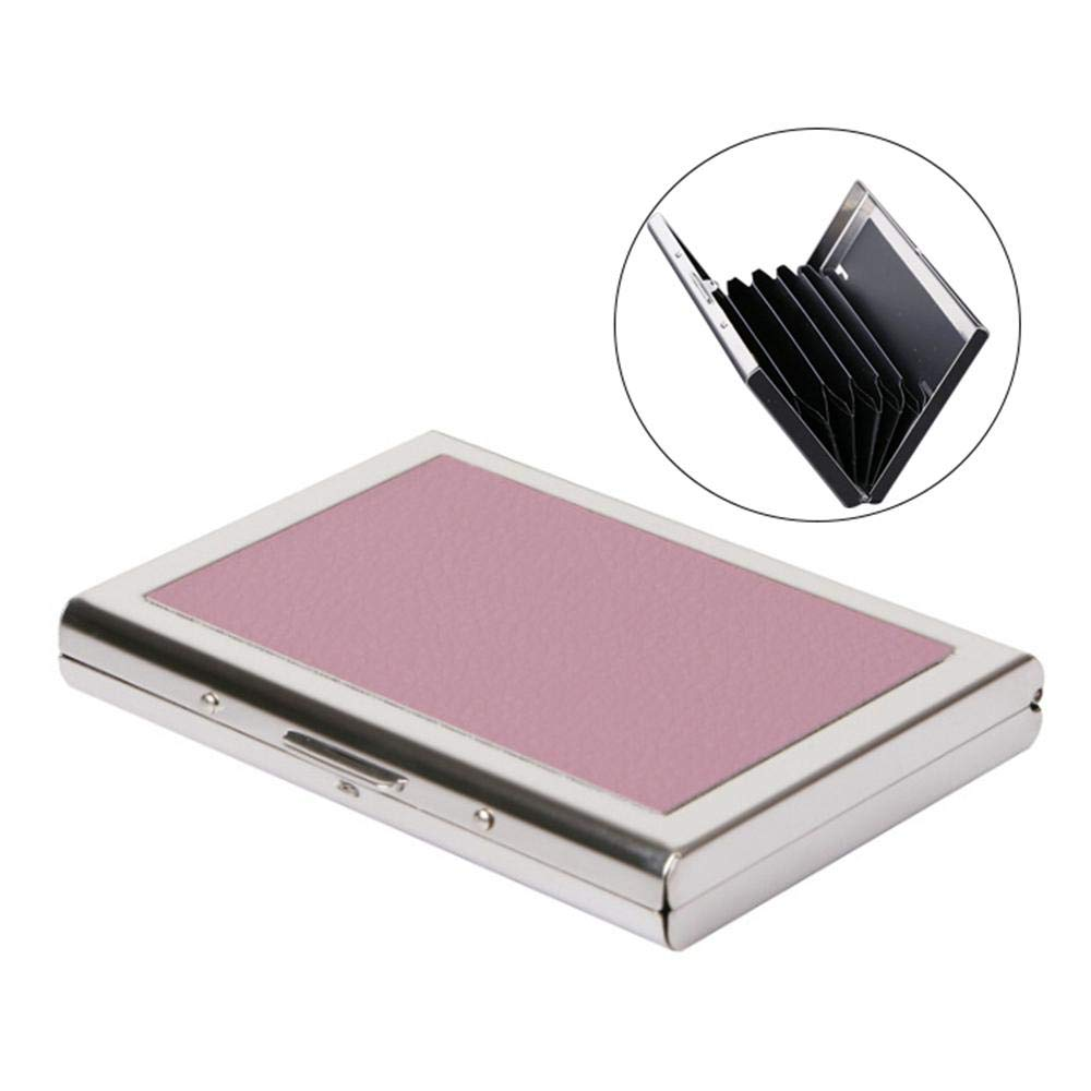 RFID Credit Card Holder Metal Wallet PU Leather and Stainless Steel Credit Card Protector Case for Women /& Men Keep Cards Clean