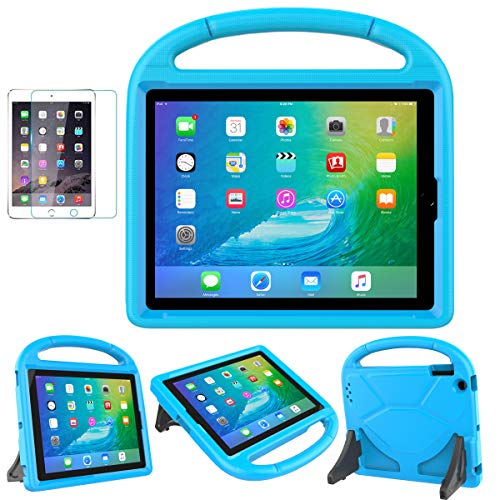 iPad 2/3/4 Kid-Proof Case - SUPLIK Durable Shockproof Protective Handle Bumper Stand Cover with Screen Protector for iPad 2nd,3rd,4th Generation(Old Models), Blue (Best Kid Proof Ipad Case)