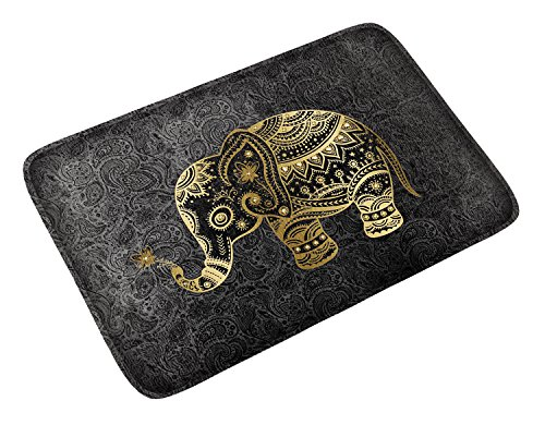 Elephant Mat - Goldwheat Soft Doormat Floormat Room Mat Flannel Bath Rug Mat for Living Room Bedroom Bathroom -23.6