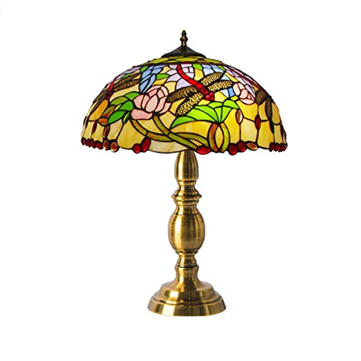 LYEJFF Lámpara de mesita de Noche clásica, lámpara de Mesa Grande ...