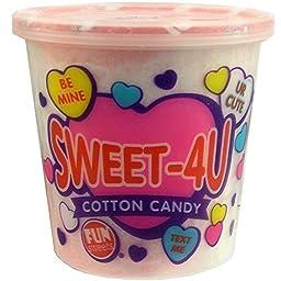 Sweet-4u Pink & White Swirl Classic Cotton Candy Tub - 1.5 Oz. Tub