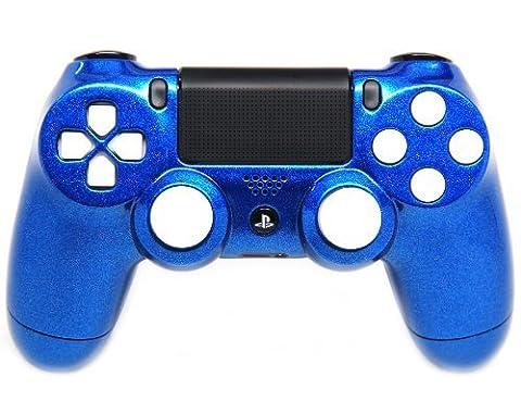 Candy Blue/White Ps4 Rapid Fire Custom Modded Controller 35 Mods COD BO2, BO3, Advanced Warfare, Destiny, Ghosts Quick Scope Auto Run Sniper Breath and (Bo2 Ps4)