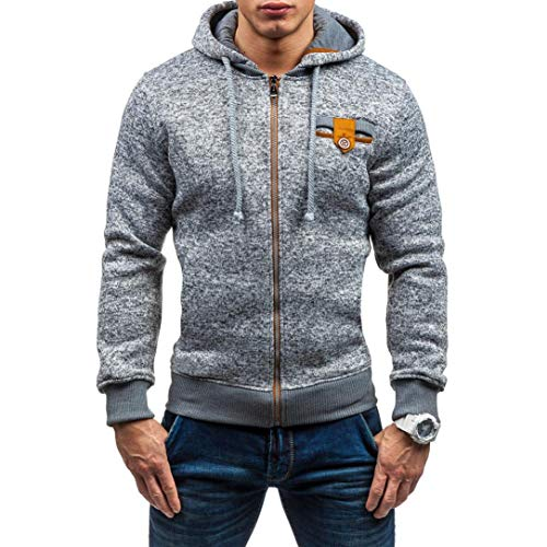 Clearance Sale! 2018 Wintialy Mens Autumn Winter Casual Zipper Long Sleeve Pullover Sweatshirt Hoodie Coat (K-12 Gear Jumper)