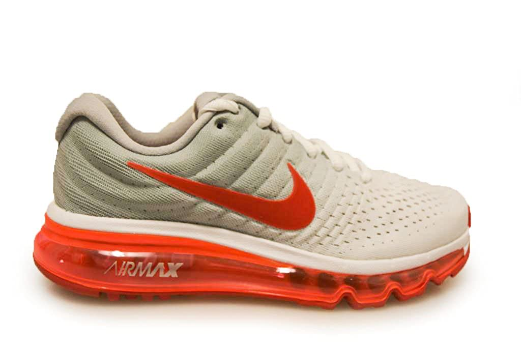 Nike Air Max 2017 GS Running Trainers 851622 Sneakers Shoes (uk 6 us 7Y eu 40, white sport red wolf grey 101)