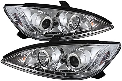 Spyder Auto PRO-YD-TCAM02-DRL-C Toyota Camry Chrome DRL LED Projector  Headlight