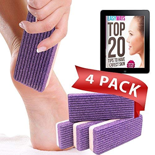 Love Pumice 2 in 1 Pumice Stone for Feet, Hands and Body, (Pack of 4)