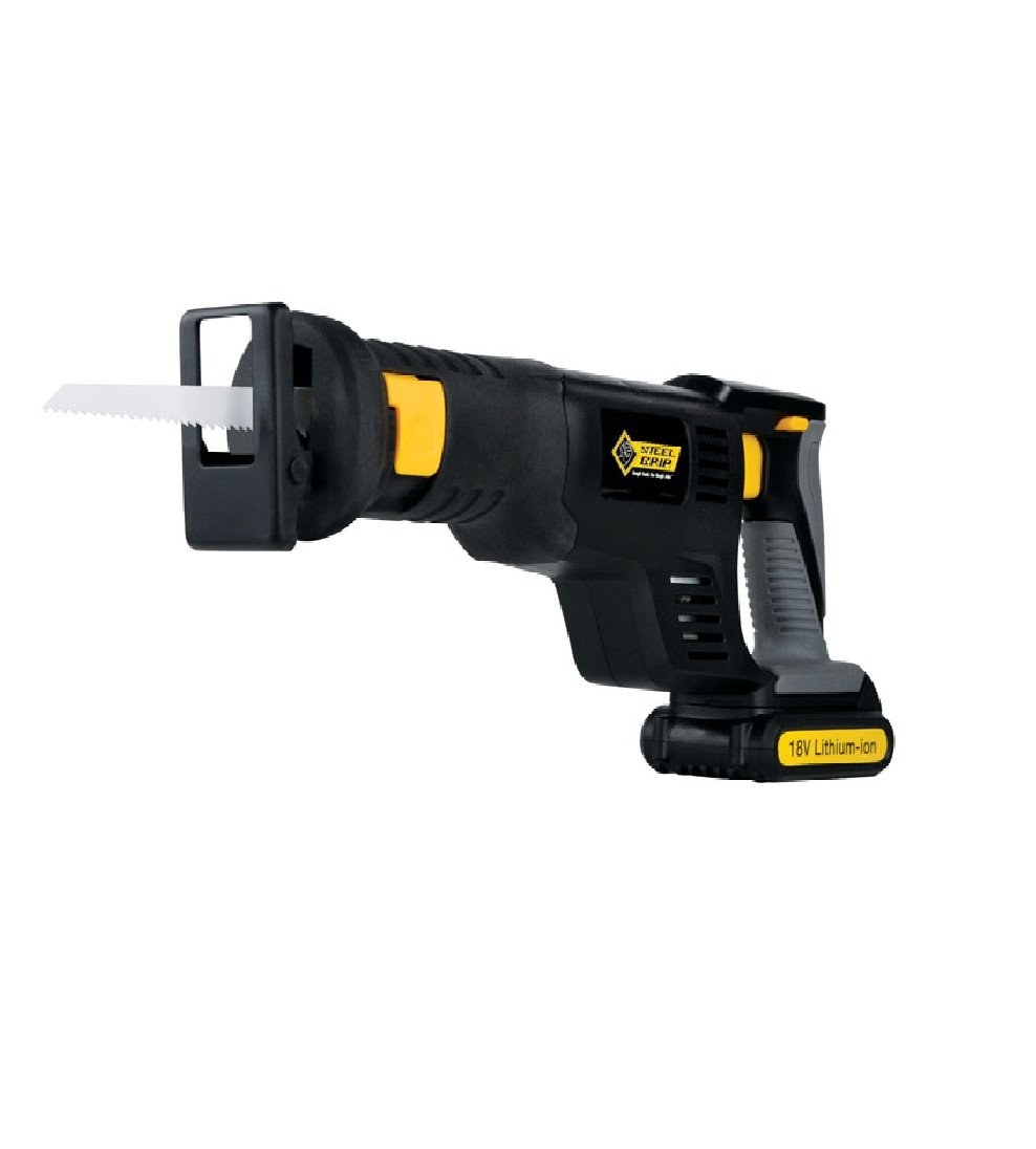 Steel Grip Hl-rs07 Lithium Ion Cordless Reciprocating Saw, 18 Volts