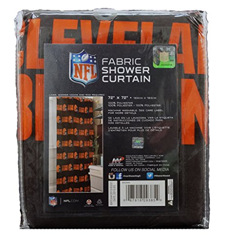 The Northwest Company Officially Licensed NFL Cleveland Browns Shower Curtain - Cleveland Browns Shower Curtain