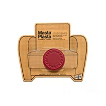 MASTAPLASTA peel and stick repair patch 50mm diameter Plain Circle Design in RED. Repairs holes, rips and stains in car seats, sofas, bags and leather jackets ...