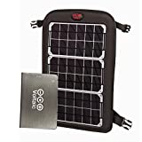 Voltaic Systems Fuse 10 Watt Rapid Solar Charger for Laptops | Includes a Battery Pack (Power Bank) and 2 Year Warranty | Powers Laptops Including Apple MacBook, Phones, USB Devices and More - Silver