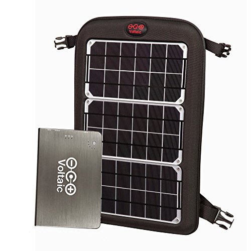 Voltaic Systems Fuse 10 Watt Rapid Solar Charger for Laptops | Includes a Battery Pack (Power Bank) and 2 Year Warranty | Powers Laptops Including Apple MacBook, Phones, USB Devices and More - Silver by Voltaic Systems
