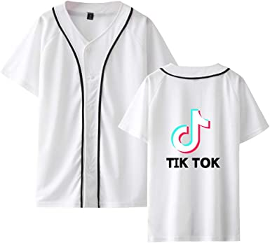 TIK TOK T Shirt Baseball Unisex Camisetas Manga Corta Tunica Kimono Blusa Cuello V Sudadera Verano Pullover Hip Pop Top para Hombres Mujer Adolescente Streetwear: Amazon.es: Ropa y accesorios