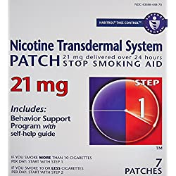 Habitrol Nicotine Transdermal System Stop Smoking Aid, Step 1 (21 mg), 7 Patches