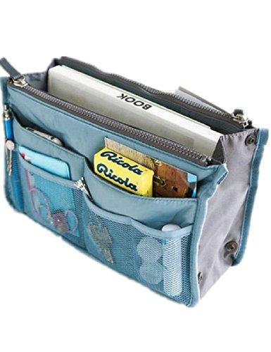 Women Travel Insert Handbag Organiser Purse Large liner Organizer Bag (Blue)