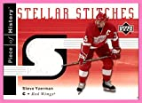 2002-03 UD Piece of History Stellar Stitches GAME USED JERSEY #SSSY Steve Yzerman DETROIT RED WINGS