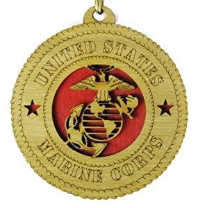 USMC - Marine Corps Laser Cut Military Ornament