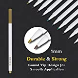Tanmit Metallic Markers Painting Pen 10 Colors Calligraphy Bullet Journal Pens for DIY Card Making Drawing Lettering Coloring Highlighter Wine Glass
