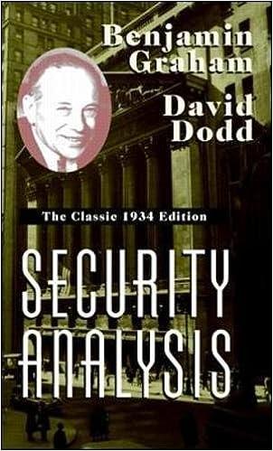 Security Analysis Benjamin Graham David Dodd Pdf