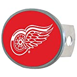 NHL Detroit Red Wings Oval Metal Hitch Cover Class II and III