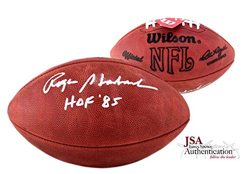 (Roger Staubach Autographed/Signed Official Wilson Authentic Dallas Cowboys NFL Football with