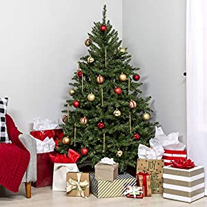 Best Choice Products 7.5ft Premium Hinged Douglas Full Fir Artificial Christmas Tree Festive Holiday Decoration w/ 2254 Branch Tips, Easy Assembly, Foldable Metal Stand - Green 2
