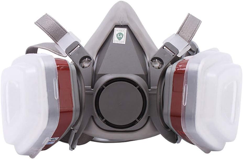 YWYW Máscara De Gas, Activa Anti-Virus De Carbón Vegetal A Gran Escala con Anti-Formaldehído Gas Perjudicial, Adecuado para/Protección Respiratoria Trabajo