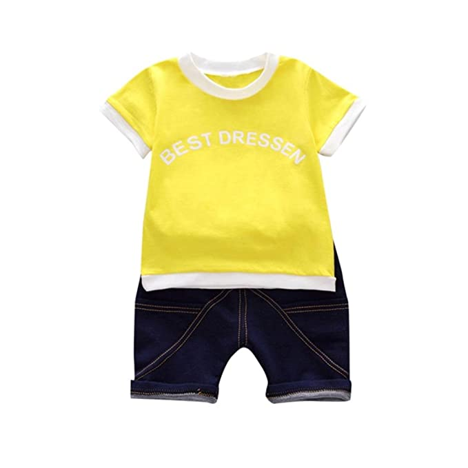 Amazon.com: jinjiu trajes set Remoción 2 piezas bebé niños ...