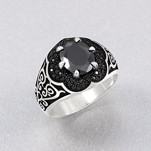 Ottoman Men's Ring 925 REAL Sterling Silver Eastern Motif