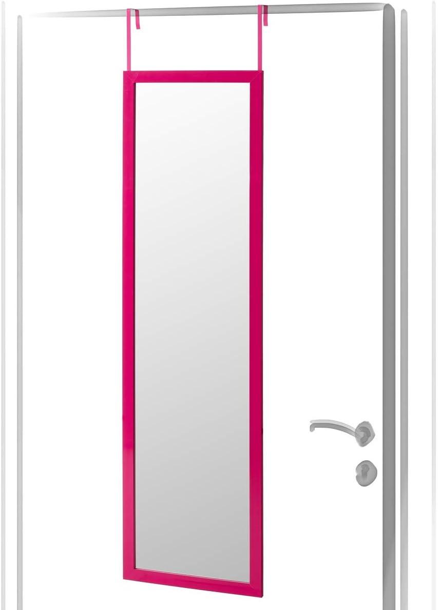 Espejo de Puerta Rosa de plástico Moderno para Dormitorio de 35 x 125 cm France - LOLAhome
