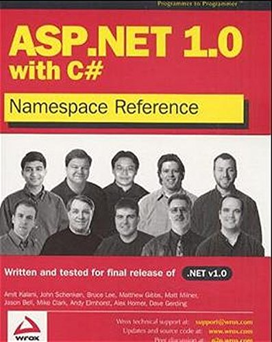 ASP.NET 1.0 Namespace Reference with C# pdf