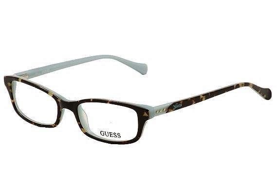 619dda58be GUESS Eyeglasses GU 2292 Tortoise Blue 50MM at Amazon Men s Clothing ...