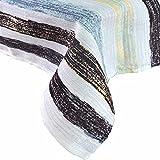 R.LANG Spill Proof Table Runner 14 x 70-inch Kitchen Table Runner Dinner Parties White/Black