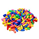 Pencil Top Eraser Caps, SUMERSHA 300pcs Eraser Caps For Children Kids Student Learning Painting Use in School, Home & Office Assorted Colors 1inch