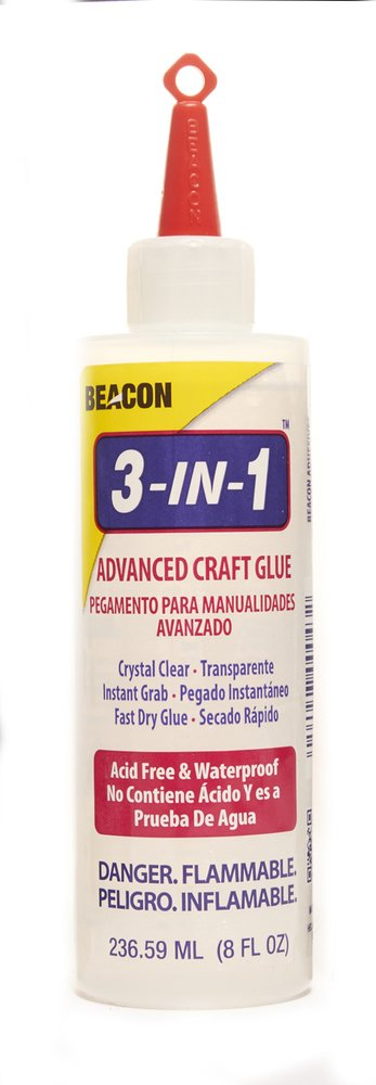 Beacon 318OZ 3-In-1 Advanced Craft Glue, 8-Ounce