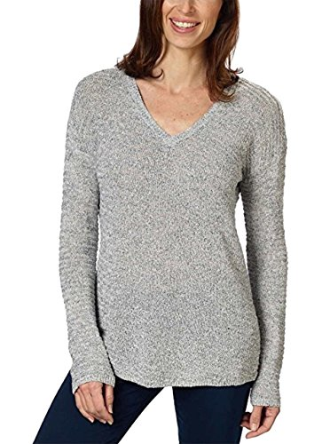 Calvin Klein Jeans Ladies' Textured Sweater (Gray, Medium) ()