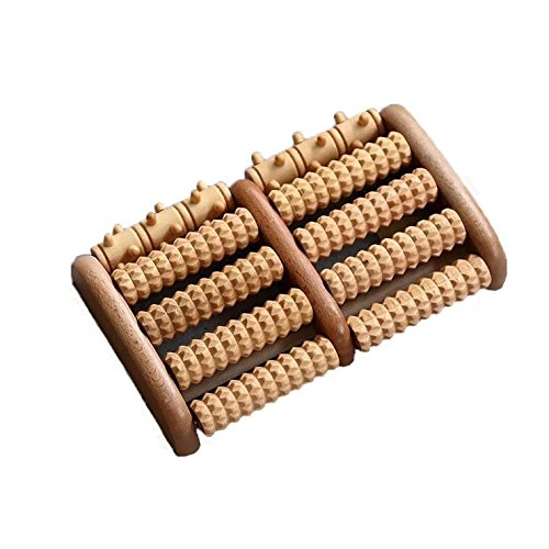 Therapied Dual Wooden Foot Massager Roller-Foot Pain Relief- Help Relieve Plantar Fasciitis, Heel, Foot Arch Pain & Stress-Manual Portable Acupressure Tool- Made of Natural Wood-Perfect Gift -Classic