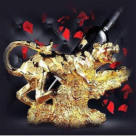 Aiglen Estante de Vino de Leopardo Europeo Creativo Arte Moderno Estante para Botellas de Vino gabinete de Vino exhibición decoración del hogar Regalo de Boda