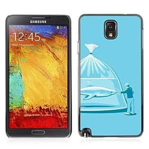 YOYOSHOP [Funny Shark Illustration] Samsung Galaxy Note 3 Case