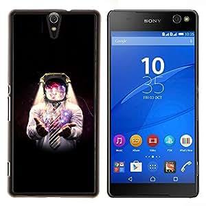 < Kobe Diy Case> Ultra cubierta de la caja protectora - FOR Sony Xperia C5 Ultra - Space Galaxy Man -