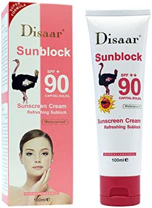 Summer Sunscreen Women Beauty Sunscreen SPF 90 PA+++ Face Body Water Resistant UV Protection Sun Screen Cream Hydrated Isolation Face Whitening Cream 40g