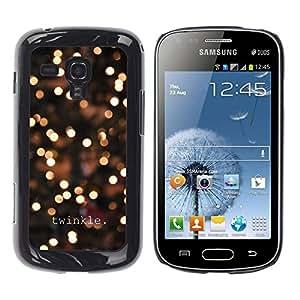 FECELL CITY // Duro Aluminio Pegatina PC Caso decorativo Funda Carcasa de Protección para Samsung Galaxy S Duos S7562 // Lights Winter Night Lights Bright