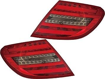 Mercedes Benz C 180 200 250 300 350 63 AMG 12 - 14 LED cola Humo Luz Set Par: Amazon.es: Coche y moto