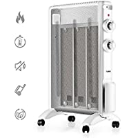 TURBRO Arcade HR1015 Mica Heater, Portable Micathermic Flat-Panel /w Adjustable Thermostat, 1500W 120V - White
