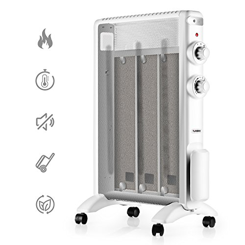 TURBRO 'Arcade' HR1015 Mica Heater, Portable Micathermic Flat-Panel /w Adjustable Thermostat, 1500W 120V (Mica Panels)