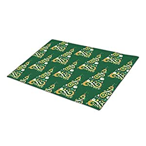 Green Gold Monogrammed Door Mat Double Door Mat