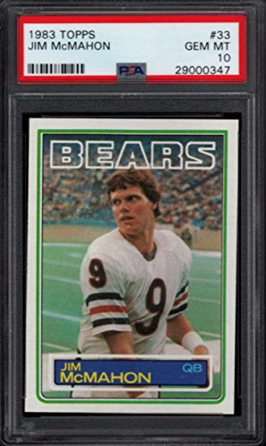 Jim Mcmahon Chicago Bears - 1983 Topps Rookie #33 Jim McMahon RC Chicago Bears PSA 10 784
