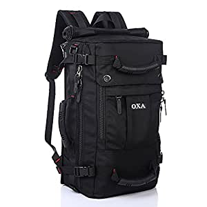 OXA Travel Backpack Daypack Computer Rucksack College School Outdoor Sports Bag Duffel Hiking Camping Bags Black