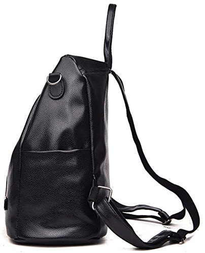FLT muti-functional backpack crossbody bag shoulder bag - Bolso mochila  para mujer negro negro medium