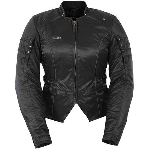 Pokerun Kimy Women's Textile Cruiser Motorcycle Jacket - Black / X-Small ()