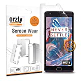 Orzly - Screen Protector For Oneplus 3 - Multi-Pack Of 5 Screen Guards Sheets For The One Plus Three Smartphone (2016 Model / Dual Sim Version)